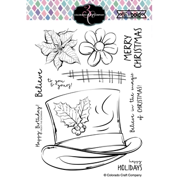 Colorado Craft Company Big and Bold FROST'S HAT Clear Stamps BB363