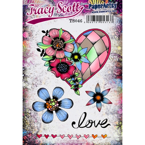 Paper Artsy ECLECTICA3 TRACY SCOTT 46 Cling Stamp ts046 Preview Image