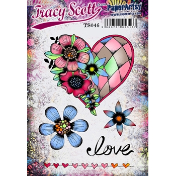 Paper Artsy ECLECTICA3 TRACY SCOTT 46 Cling Stamp ts046