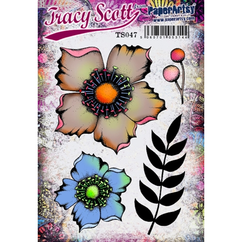 Paper Artsy ECLECTICA3 TRACY SCOTT 47 Cling Stamp ts047 Preview Image
