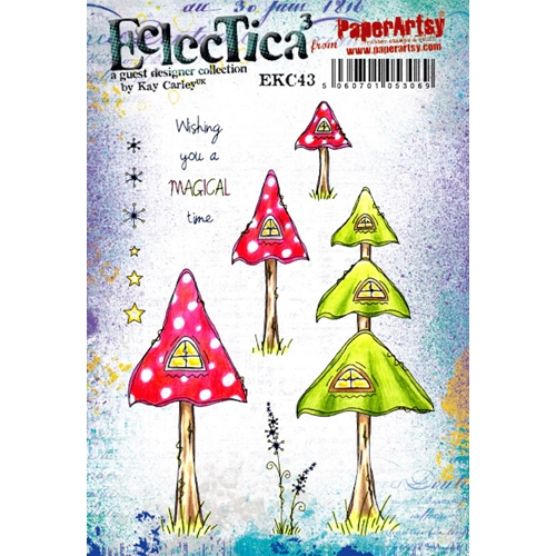 Paper Artsy ECLECTICA3 KAY CARLEY 43 Cling Stamp ekc43 Preview Image