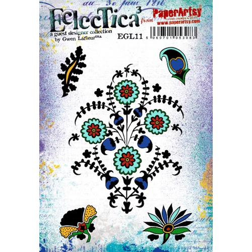 Paper Artsy ECLECTICA3 GWEN LAFLEUR 11 Cling Stamps egl11 Preview Image