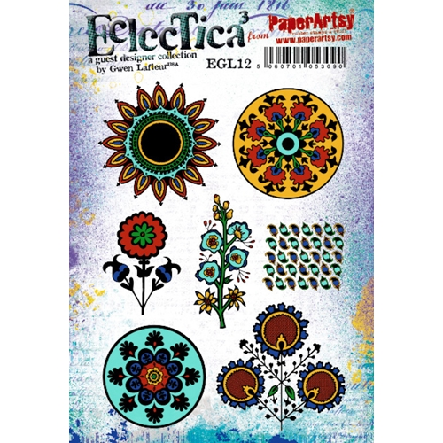 Paper Artsy ECLECTICA3 GWEN LAFLEUR 12 Cling Stamps egl12 Preview Image