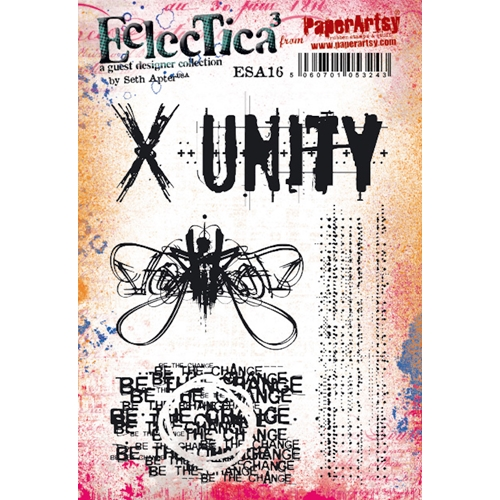 Paper Artsy SETH APTER 16 ECLECTICA3 Cling Stamp esa16pa Preview Image