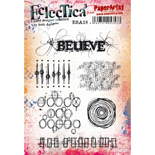 Paper Artsy SETH APTER 18 ECLECTICA3 Cling Stamp esa18 Preview Image