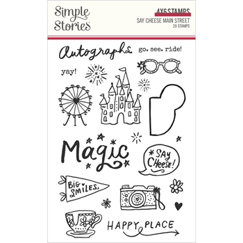 Simple Stories SAY CHEESE MAIN STREET Clear Stamp Set 14225