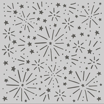 Simple Stories MAGICAL FIREWORKS 6 x 6 Stencil 14226