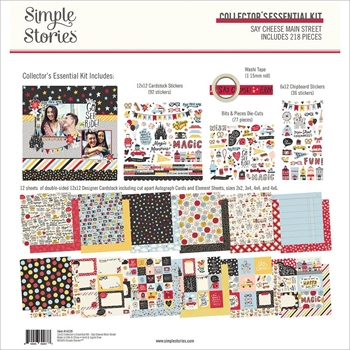 Simple Stories SAY CHEESE MAIN STREET 12 x 12 Collector's Essential Kit 14229