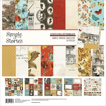 Simple Stories VINTAGE ANCESTRY 12 x 12 Collection Kit 14100