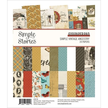 Simple Stories VINTAGE ANCESTRY 6 x 8 Paper Pad 14119
