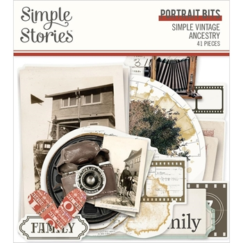 Simple Stories VINTAGE ANCESTRY Portrait Bits And Pieces 14122