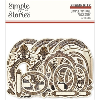 Simple Stories VINTAGE ANCESTRY Frame Bits And Pieces 14123