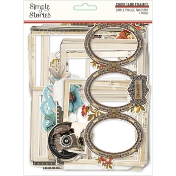 Simple Stories VINTAGE ANCESTRY Layered Chipboard Frames 14125