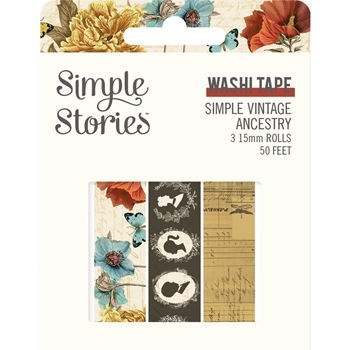 Simple Stories VINTAGE ANCESTRY Washi Tape 14129