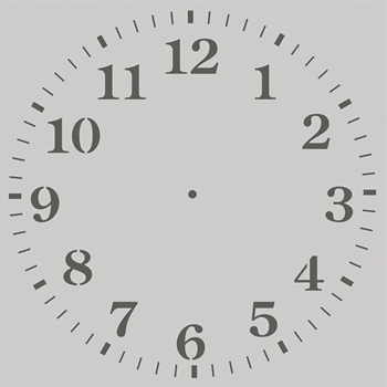 Simple Stories CLOCK 6 x 6 Stencil 14131