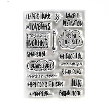 Elizabeth Craft Designs Clear Stamps DESTINATION PHRASES cs191