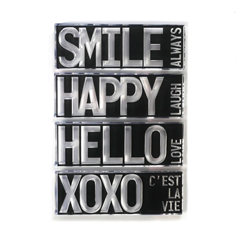 Elizabeth Craft Designs Clear Stamps BLOCK WORDS HELLO cs194