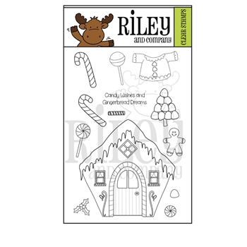 Riley and Company GINGERBREAD Clear Stamps RCLR41