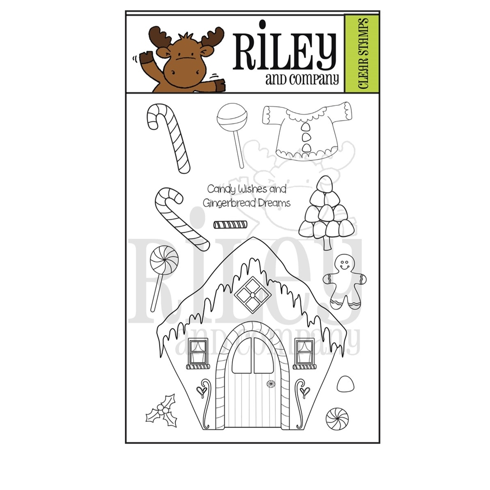 Riley and Company GINGERBREAD Clear Stamps RCLR41 zoom image