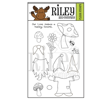 Riley and Company GNOMES Clear Stamps RCLR40