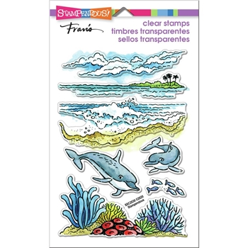 Stampendous Clear Stamps DOLPHIN PLAY ssc2030