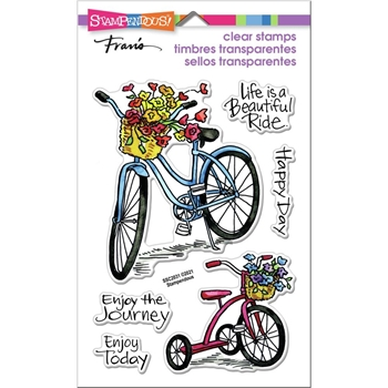 Stampendous Clear Stamps BASKET BIKES ssc2031