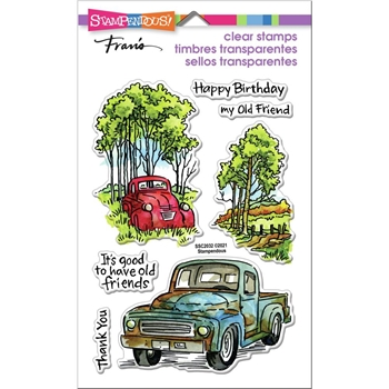 Stampendous Clear Stamps TRUCK FRIENDS ssc2032