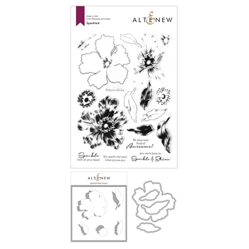 Altenew SPARKLED Clear Stamps, Dies, and Mask Stencil Bundle ALT4604