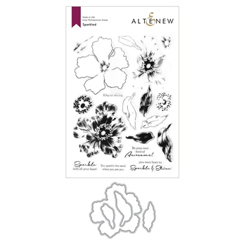 Altenew SPARKLED Clear Stamp and Die Bundle ALT4603