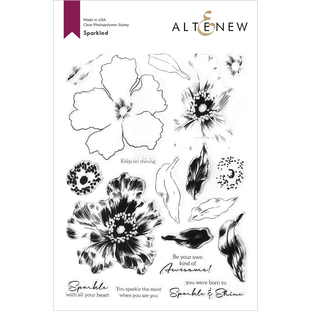 Altenew SPARKLED Clear Stamps ALT4600 zoom image