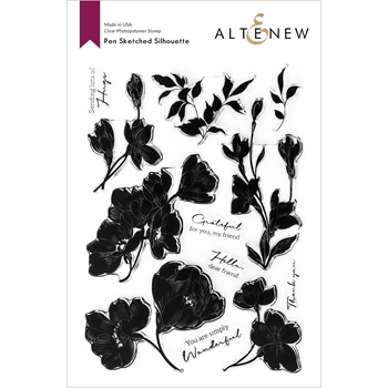 Altenew PEN SKETCHED SILHOUETTE Clear Stamps ALT4599
