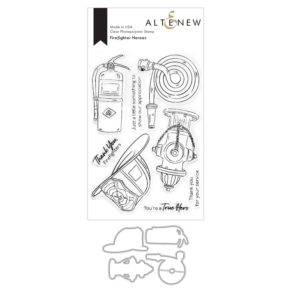 Altenew FIREFIGHTER HEROES Clear Stamp and Die Bundle ALT4595 zoom image