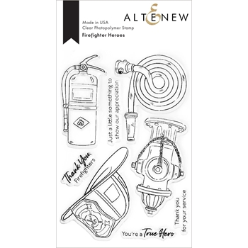 Altenew FIREFIGHTER HEROES Clear Stamps ALT4593