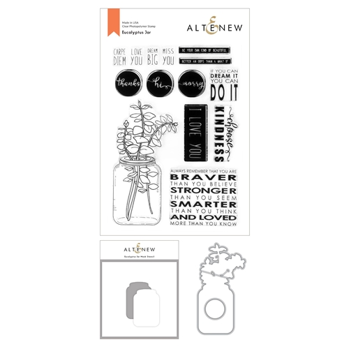 Altenew EUCALYPTUS JAR Clear Stamp, Die, and Mask Stencil Bundle ALT4592 Preview Image
