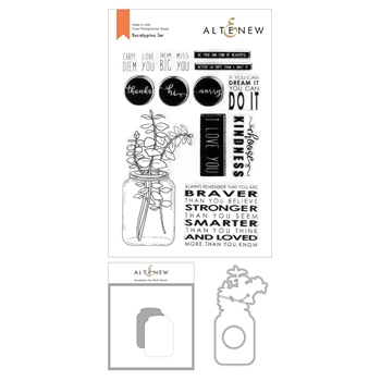 Altenew EUCALYPTUS JAR Clear Stamp, Die, and Mask Stencil Bundle ALT4592