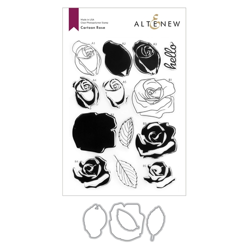 Altenew CARTOON ROSE Clear Stamp and Die Bundle ALT4586 Preview Image
