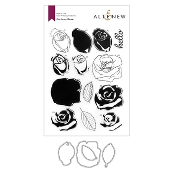 Altenew CARTOON ROSE Clear Stamp and Die Bundle ALT4586