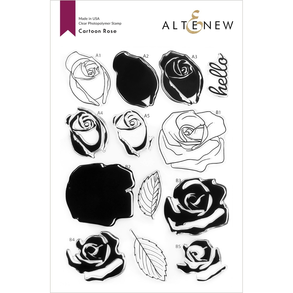 Altenew CARTOON ROSE Clear Stamps ALT4583 zoom image