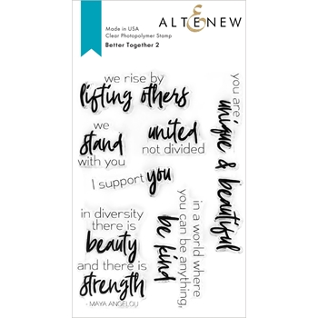 Altenew BETTER TOGETHER 2 Clear Stamps ALT4582