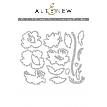 Altenew CRAFT A FLOWER POPPY Dies ALT4573