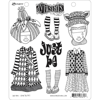 Dyan Reaveley JUST BE Cling Stamp Set Dylusions DYR76797