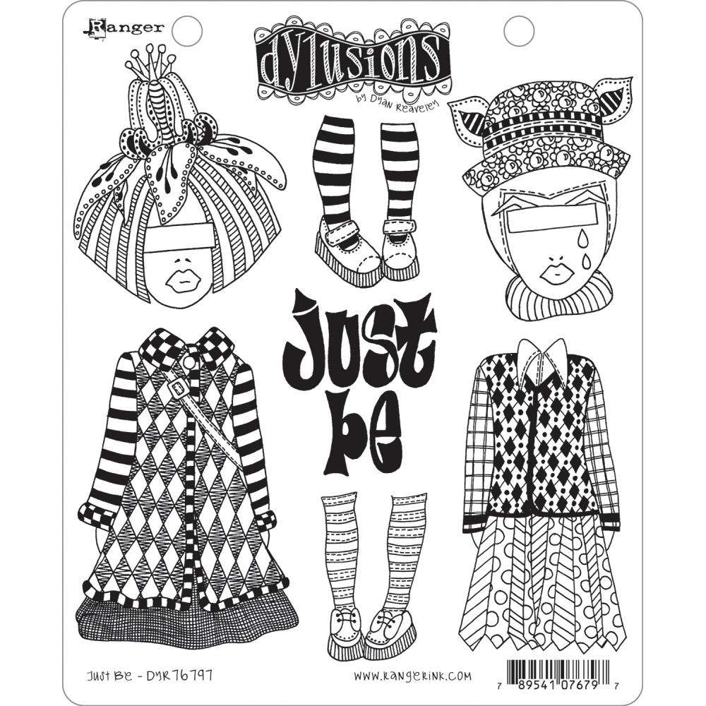 Dyan Reaveley JUST BE Cling Stamp Set Dylusions DYR76797 zoom image