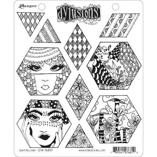 Dyan Reaveley QUILTALICIOUS Cling Stamp Set Dylusions DYR76810 Preview Image