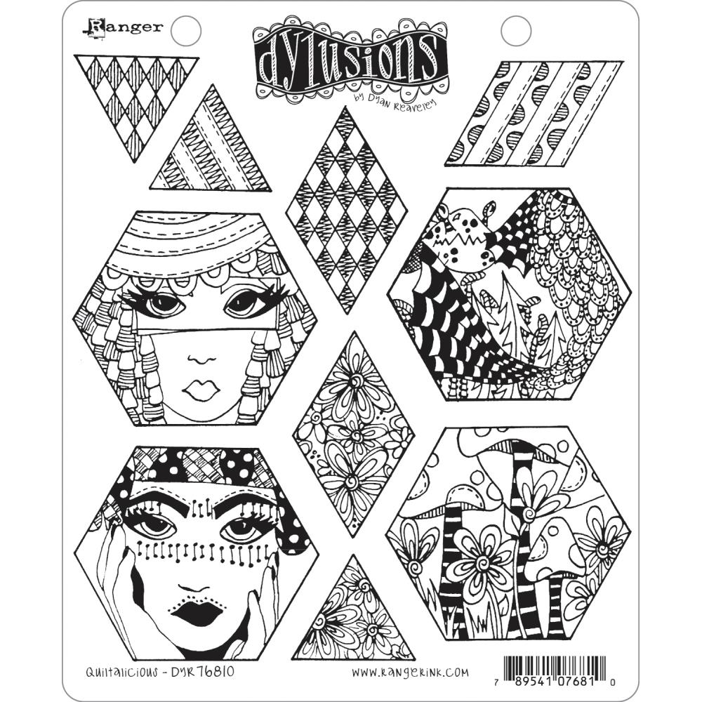 Dyan Reaveley QUILTALICIOUS Cling Stamp Set Dylusions DYR76810 zoom image