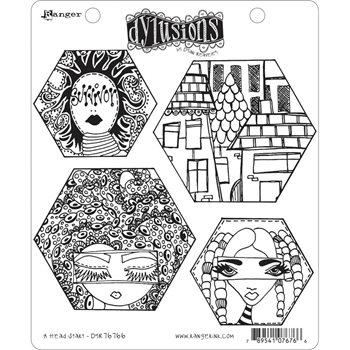 Dyan Reaveley A HEAD START Cling Stamp Set Dylusions DYR76766