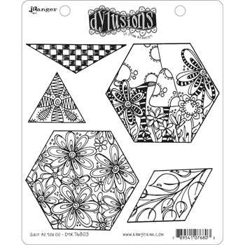 Dyan Reaveley A HEAD START Cling Stamp Set Dylusions DYR76803