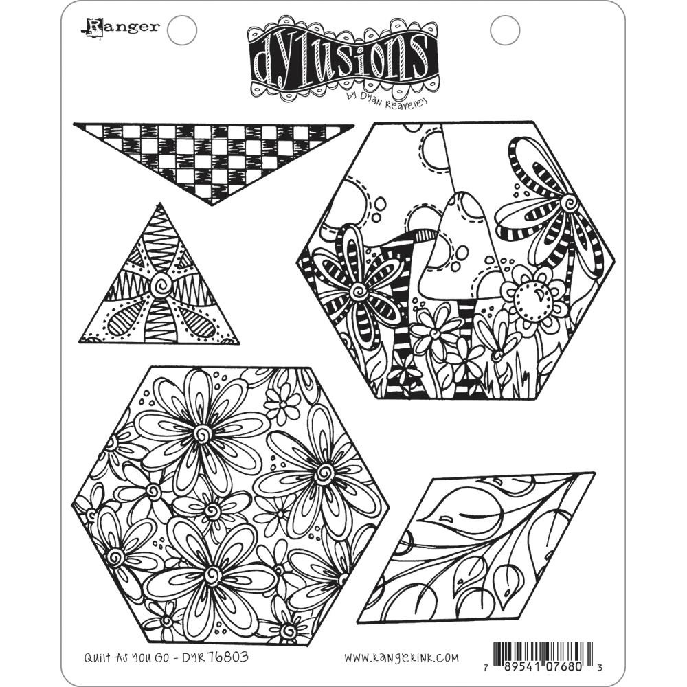 Dyan Reaveley A HEAD START Cling Stamp Set Dylusions DYR76803 zoom image
