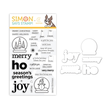 CZ Design Stamps and Dies LET'S MAKE A TAG set363lmt Holly Jolly