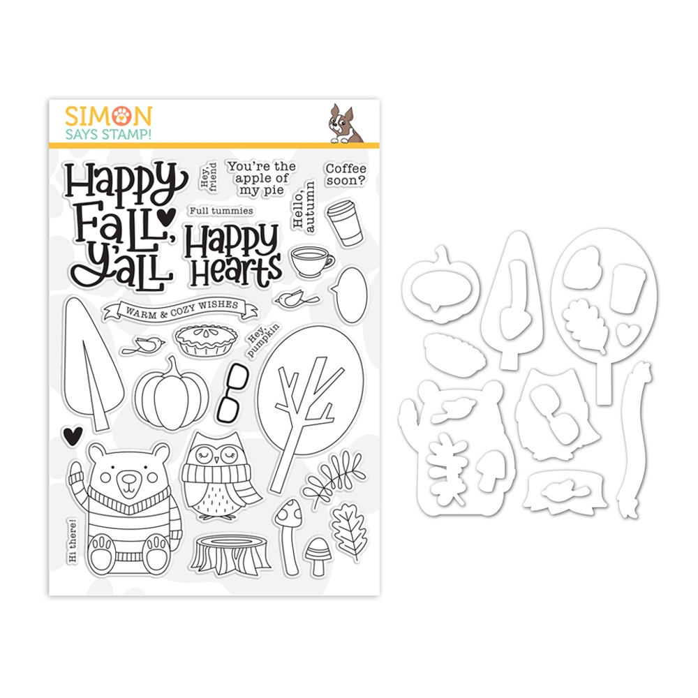 Simon Says Stamps and Dies HAPPY FALL Y'ALL set362hfy Holly Jolly zoom image
