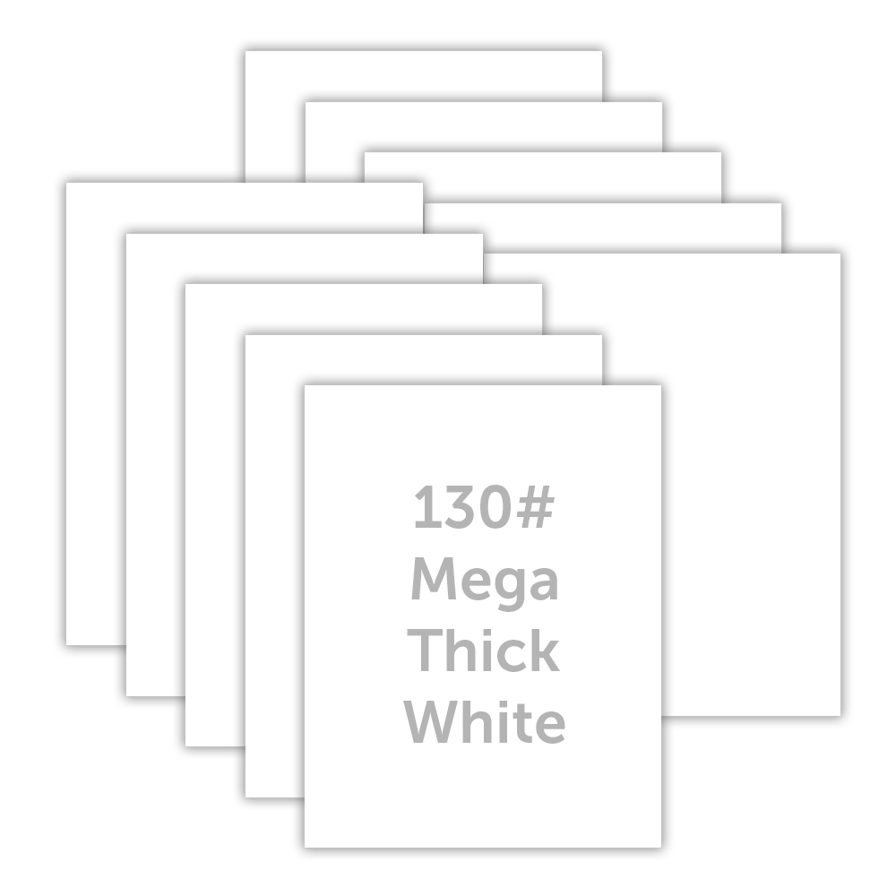 Simon Says Stamp MEGA THICK WHITE CARDSTOCK 130# 10 Pack 130lbwc Holly Jolly zoom image